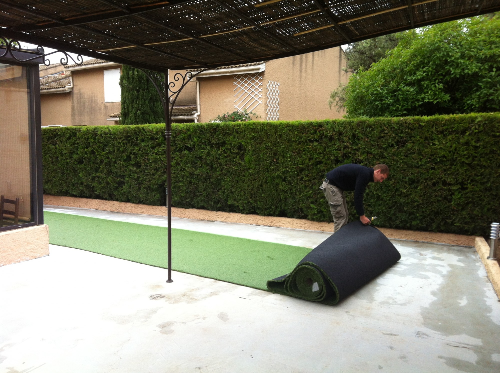 gazon artificiel sur terrasse