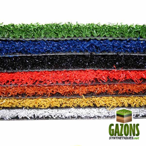 gazon synthetique de couleur