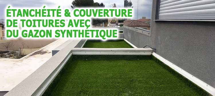 gazon synthetique sur etancheite