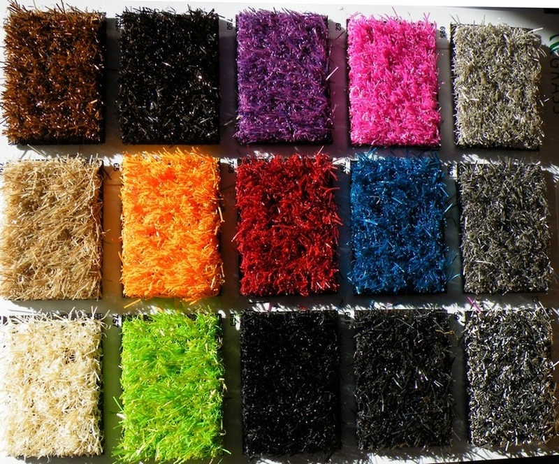 pelouse synthetique coloree