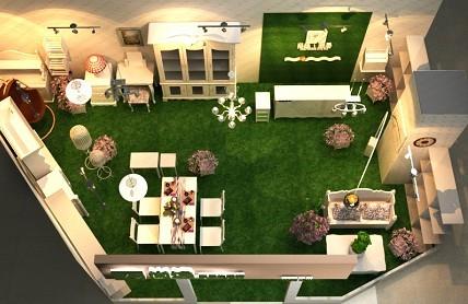 pelouse synthetique d'interieur