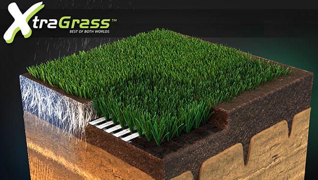 pelouse synthetique mixte