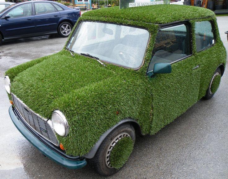pelouse synthetique voiture